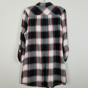 Lucky Brand Tops - Lucky Brand long length plaid blouse size S